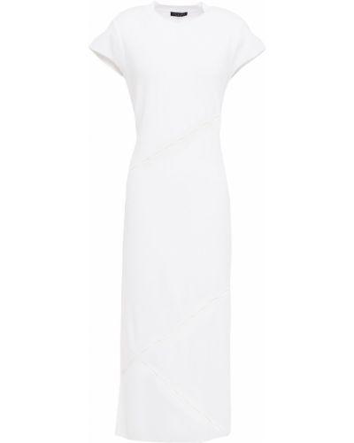Biała sukienka midi z wiskozy Rag & Bone