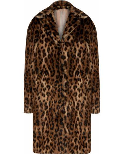 Пальто бежевое леопардовый No.21