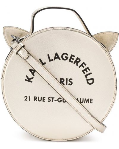 Золотистая желтая сумка на молнии из вискозы Karl Lagerfeld Kids