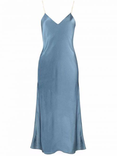 Синее платье с вырезом Ba&sh