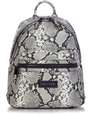 Черный рюкзак с заплатками Tiba + Marl