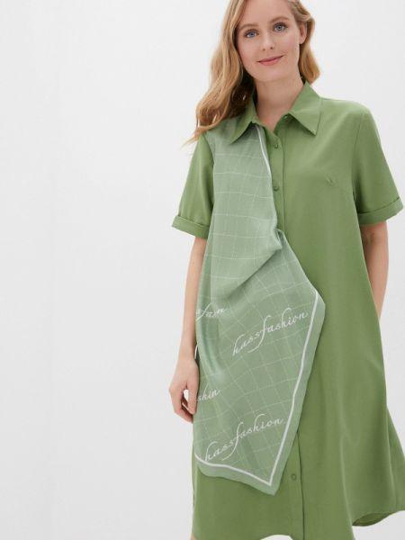 Платье платье-рубашка зеленый Hassfashion