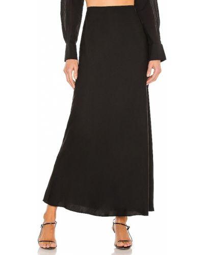 Черная юбка миди для полных на резинке L'academie