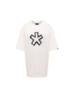 Белая хлопковая футболка Comme Des Fuckdown