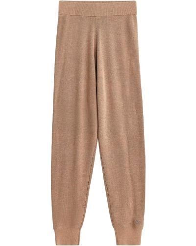 Beżowe spodnie sportowe oversize By Malene Birger