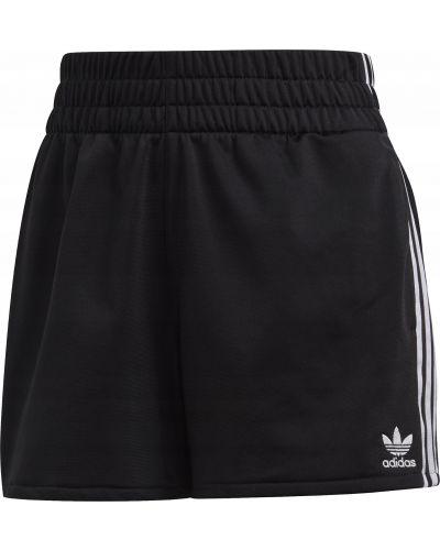 Czarny krótkie szorty w paski z paskami Adidas