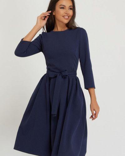 Синее зимнее платье A.karina