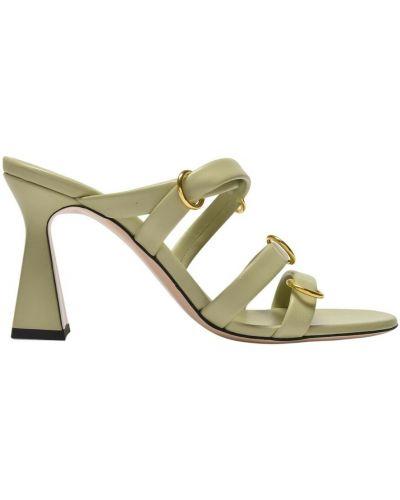Zielone sandały skórzane Wandler