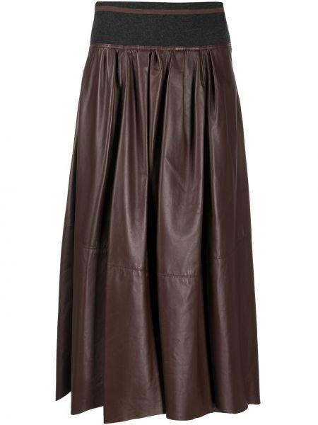 Skórzany spódnica Brunello Cucinelli