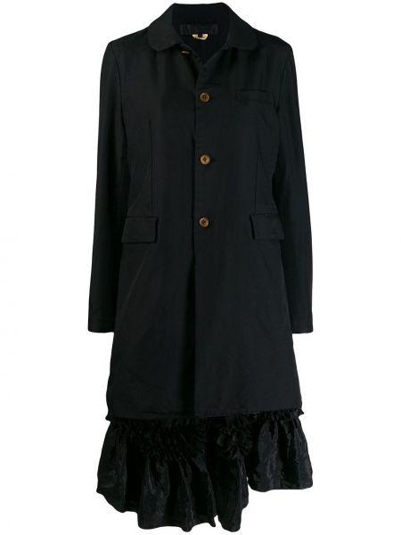 Прямое черное длинное пальто с капюшоном Comme Des Garçons Comme Des Garçons