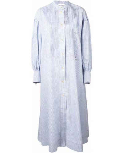 Платье рубашка - синее Sonia Rykiel