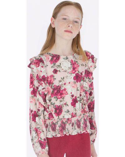 Блуза из вискозы розовый Mayoral
