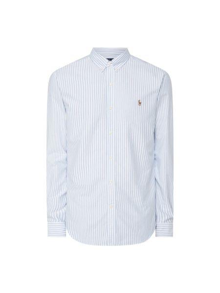 Bawełna puchaty niebieski koszula oxford z mankietami Polo Ralph Lauren