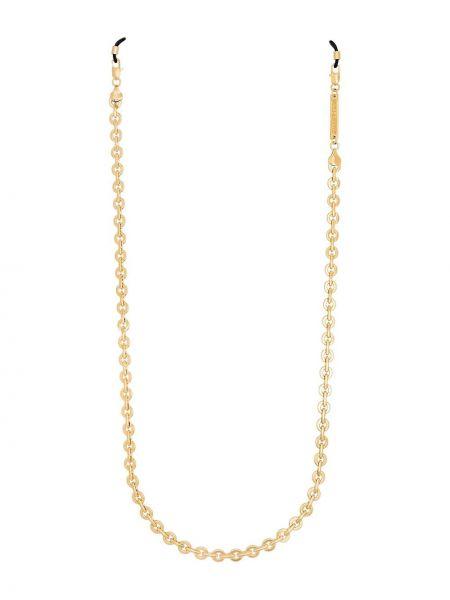 Золотистая желтая цепочка с декоративной отделкой Frame Chain