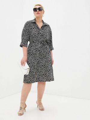 Черное платье-рубашка Chic De Femme