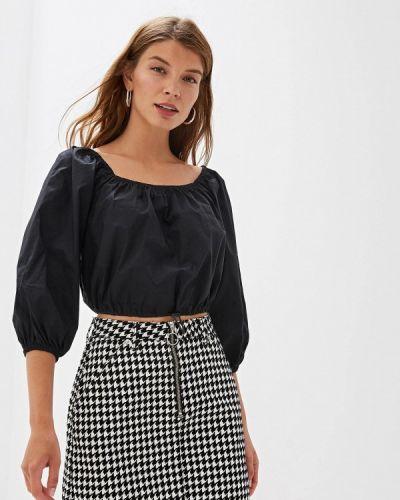 Блузка с открытыми плечами черная Ovs