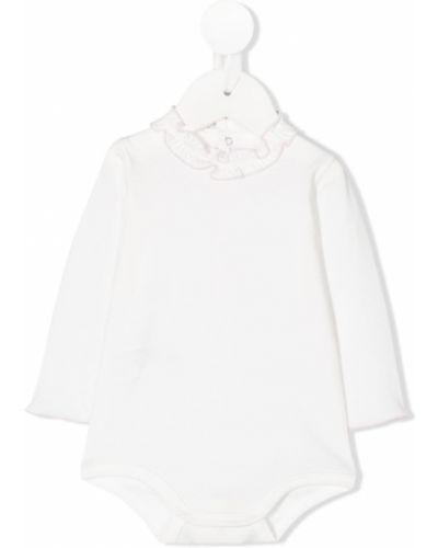 Biały body z długimi rękawami bawełniany Il Gufo