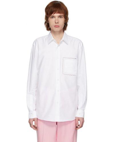 Koszula z długim rękawem długa z popeliny Burberry