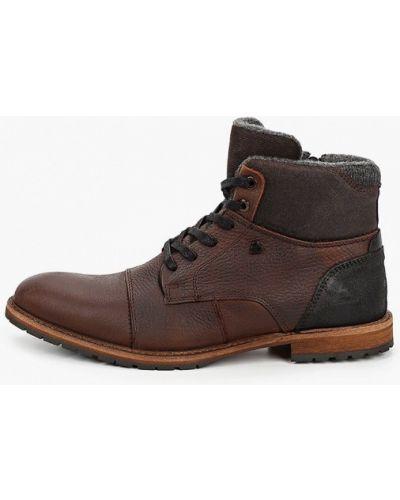 Коричневые кожаные ботинки Bullboxer