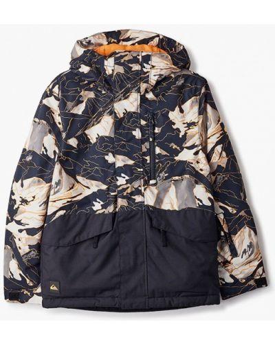 Утепленная черная куртка горнолыжная Quiksilver