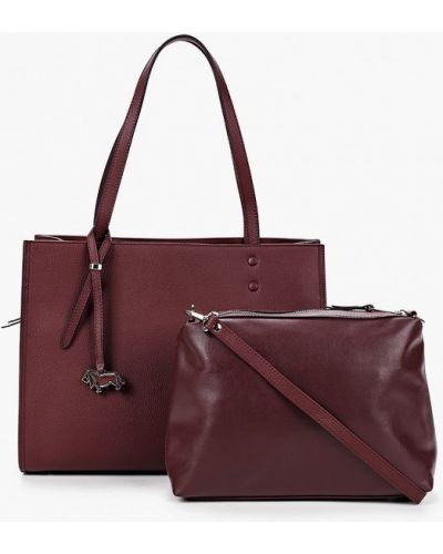 Красная сумка из натуральной кожи Labbra