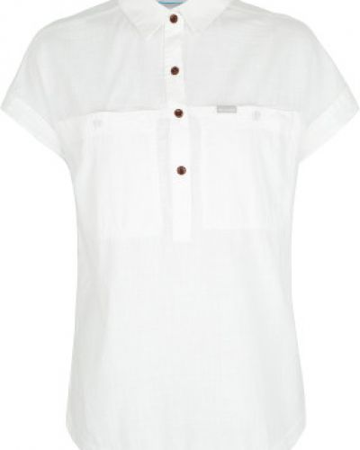 Рубашка белая с карманами Columbia