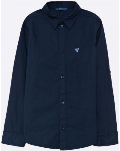 Klasyczna koszula jeansowa bawełniana zapinane na guziki Guess