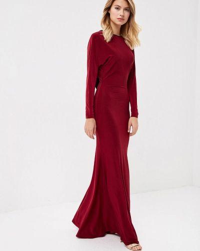 Бордовое зимнее вечернее платье Trendyangel