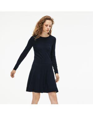 Платье с поясом теплое шерстяное Lacoste