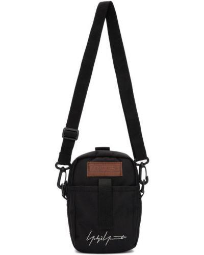 Czarna torebka crossbody skórzana na rzepy Yohji Yamamoto