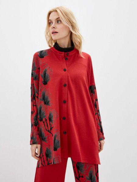Блузка с длинным рукавом осенняя красная Lo