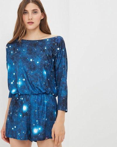 Синий комбинезон с шортами Colour Pleasure