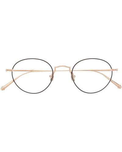 Czarne złote okulary Matsuda