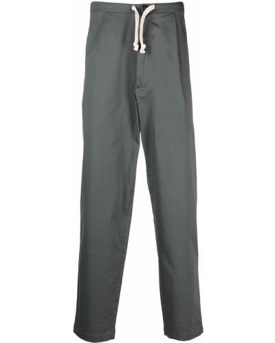 Хлопковые прямые серые брюки SociÉtÉ Anonyme