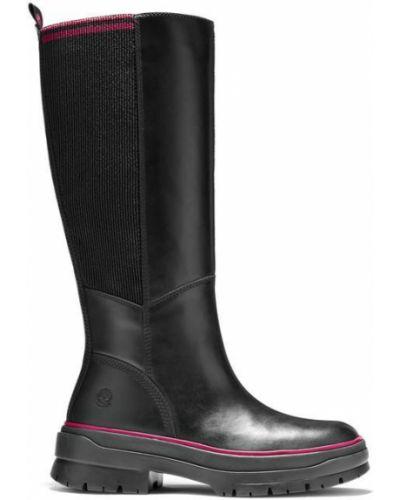 Водонепроницаемые черные кожаные ботинки Timberland
