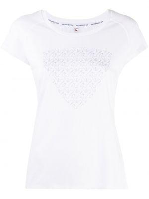 Прямая белая спортивная футболка для бега Rossignol