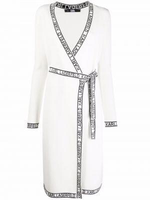 Белое платье с запахом Karl Lagerfeld