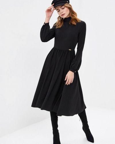 Вечернее платье осеннее черное Royal Elegance