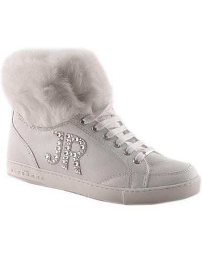 Кожаные кроссовки - белые John Richmond