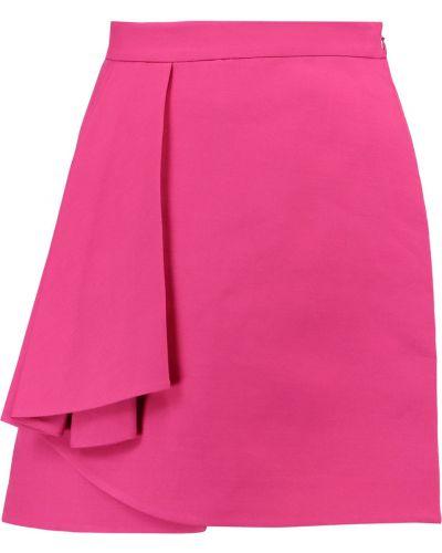 Шелковая плиссированная юбка со складками Valentino