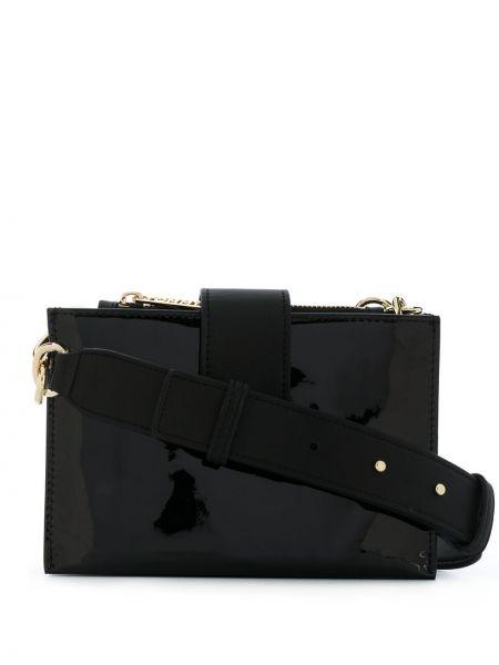 Черная сумка через плечо на молнии со вставками Tommy Hilfiger