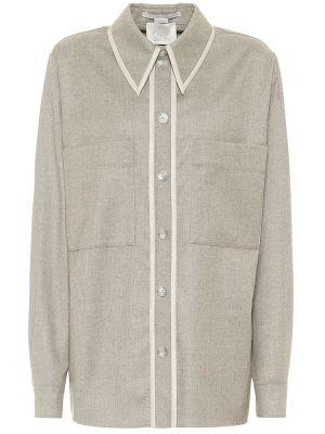 Серая шерстяная рубашка Stella Mccartney