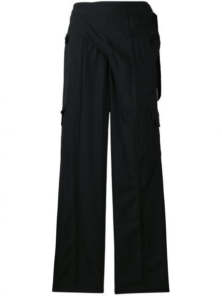 Шерстяные черные брюки с запахом Situationist