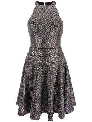 Открытое черное платье мини с открытой спиной Philipp Plein