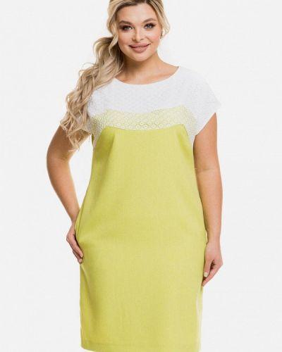 Желтое повседневное платье Venusita