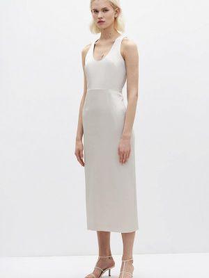 Белое прямое платье Lime