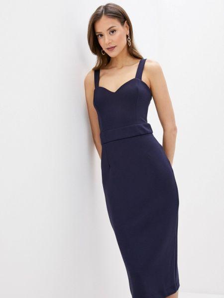 Платье футляр синее Fashion.love.story