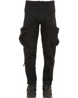 Czarne spodnie bawełniane z paskiem Nilmance