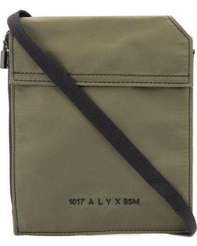 Zielona torebka mini skórzana z haftem 1017 Alyx 9sm