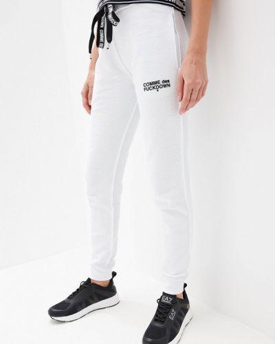 Спортивные брюки пуховые белые Comme Des Fuckdown